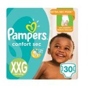 FRALDA PAMPERS CONFORT SEC XXG 3 PCT.C/30 CXF