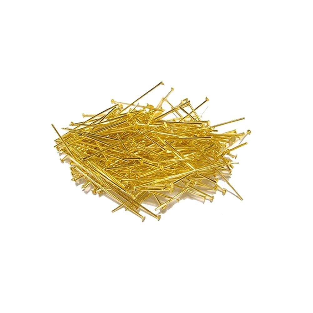 Alfinete com Cabeça Dourado - 15mm - 25g
