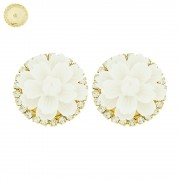 Piercings Flor para Chinelos com Strass Swarovski - 27mm - 1par