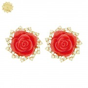 Piercings Flor para Chinelos com Strass Swarovski - 30mm - 1par