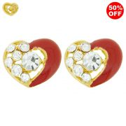 Piercings Cora��o para Chinelos com Strass - 17mm - 1par