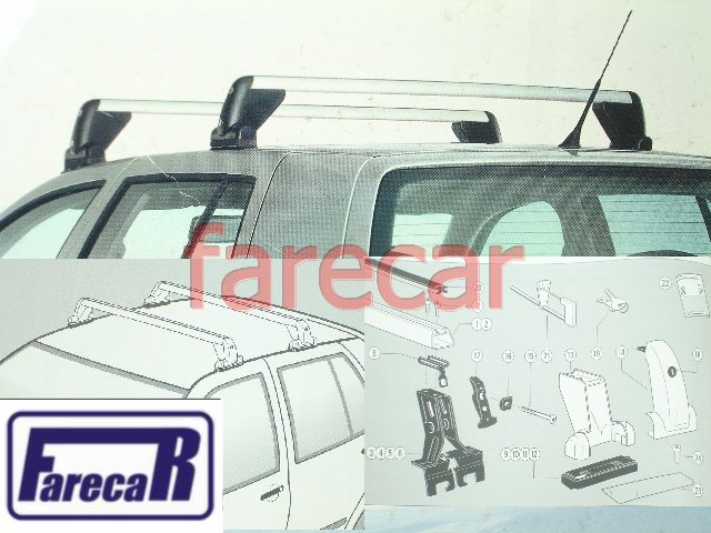 SUPORTE BARRA RACK DO TETO ORIGINAL VW GOLF 2001 A 2013  - Farecar Comercio
