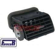 grade difusor de ar preto lado direito da moldura do painel com roldana regulagem  VW Gol G3 1999 a 2003 99 00 01 02 03 2000 2001 2002