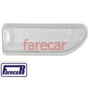 lente de vidro lisa com risco do farol milha neblina do parachoque Vw Gol bola G2 1995 a 1999