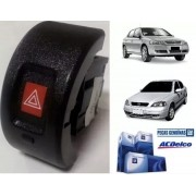Botão pisca alerta com led original GM 24416080 Astra 1999 2000 2001 2002 2003 2004 2005 2006 2007 2008 2009 2010 2011 2012