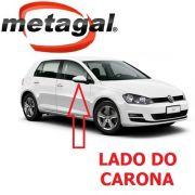 Capa Cobertura do Espelho Retrovisor Lado Direito pintada na Cor Branco Puro VW Golf 2014 2015 2016 2017 14 15 16 17