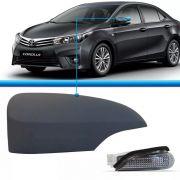 Capa com pisca para pintar primer do espelho retrovisor Toyota Corolla Corola 2014 2015 2016 2017 14 15 16 17