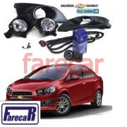 Kit Farol Milha Novo Sonic 2016 15 14 Hatch Sedan Original
