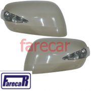 Kit par de capa com pisca espelho retrovisor Honda Fit 2009 2010 2011 2012 2013 09 10 11 12 13