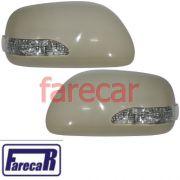 Kit par de capa com pisca  espelho retrovisor Toyota Corolla Corola 2009 2010 2011 2012 2013 09 10 11 12 13