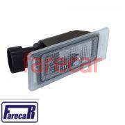 Lanterna da Placa de Licença - Cruze Hatch / Trailblazer Peças Genuínas GM Unitário Chevrolet 2013 em diante Código: 13502179