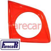 lente interna vermelha da lanterna pequena da tampa do porta malas Vw Spacefox 2006 2007 2008 2009 06 07 08 09