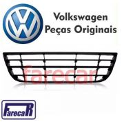 Moldura Grade Central Inferior do Parachoque Dianteiro Original Vw Polo 2007 2008 2009 2010 2011