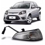 pisca lado esquerdo da capa do espelho retrovisor ford ka 2008 a 2013