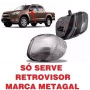 PISCA SETA LADO ESQUERDO DA CAPA DO ESPELHO RETROVISOR GM S10 TRAILBLAZER 2012 2013 2014 2015 2016 2017 2018