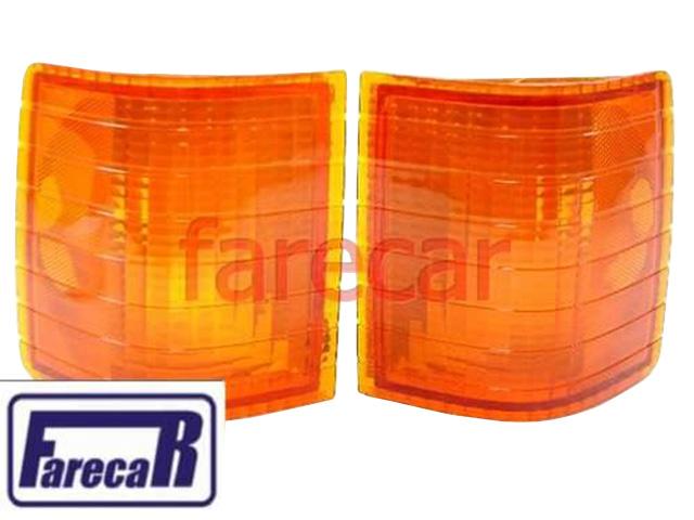 Par Lanterna Pisca Seta Opala 1980 A 1987 Ambar Plastico  - Farecar Comercio