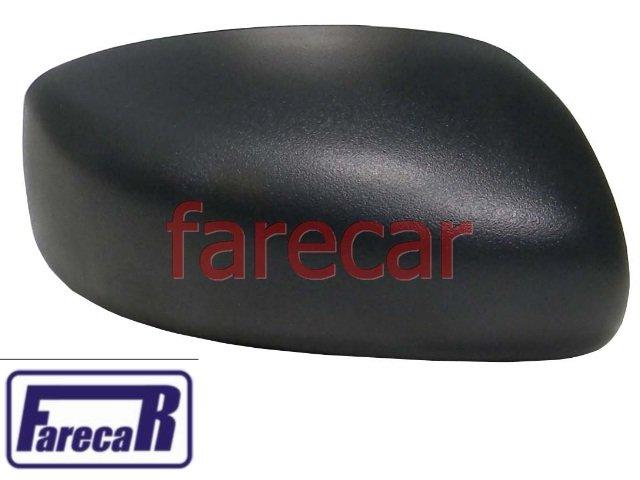 Capa Espelho Retrovisor Lateral Fiat Idea Preta  - Farecar Comercio