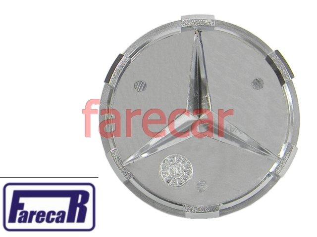 Calota Miolo Roda Mercedes Classe A Estrela Cromada Novas  - Farecar Comercio