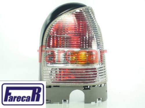 Par De Lanternas Traseira Gol 2000 A 2004 G3 Toda Cristal  - Farecar Comercio