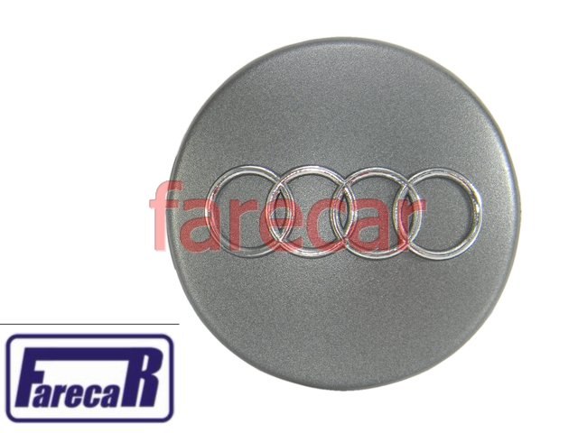 Calota 60 Mm Do Miolo Cubo Da Roda Audi A3 Nova  - Farecar Comercio