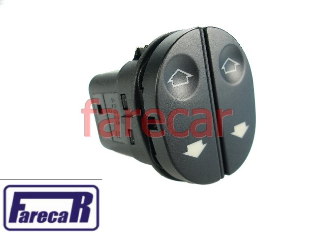 Botao da porta Vidro Eletrico Ford Ka Fiesta Courier Duplo Novo  - Farecar Comercio