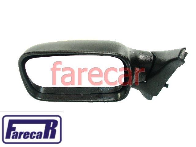 Espelho Retrovisor Fiat Uno Fire 2 Portas 01 a 06 Fixo Novo  - Farecar Comercio