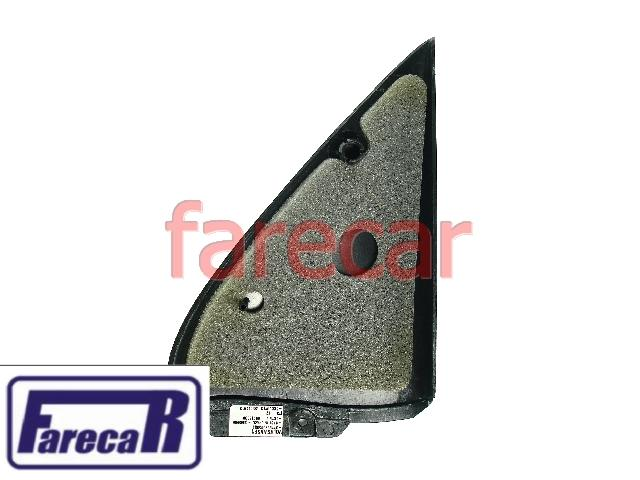Moldura Espelho Retrovisor Gol 4 Portas G2 G3 Sem Furo Preta  - Farecar Comercio