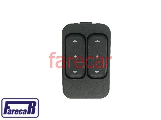 Botao Porta Vidro Eletrico Duplo Celta Astra Corsa Zafira Meriva Prisma  - Farecar Comercio