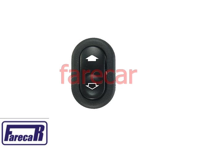 Botao Interruptor Comando Vidro Eletrico Simples Fiesta e Ecosport  - Farecar Comercio