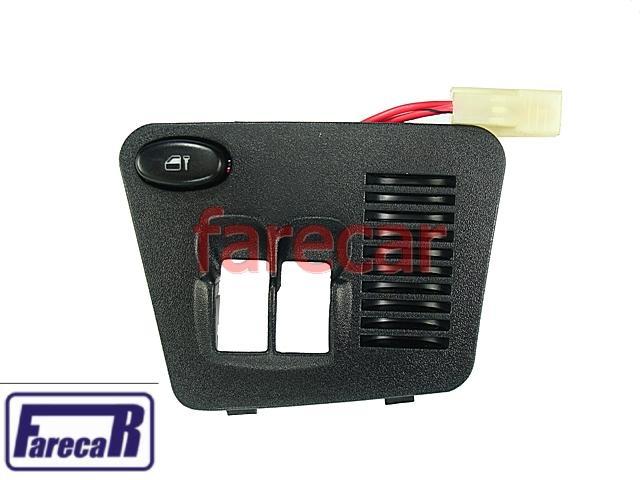 Moldura Console Botao Vidro Eletrico C/ Trava Palio 96 a 00  - Farecar Comercio
