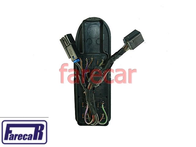 Botao Com Moldura Vidro Eletrico Ipanema 4 Portas 94 a 98  - Farecar Comercio