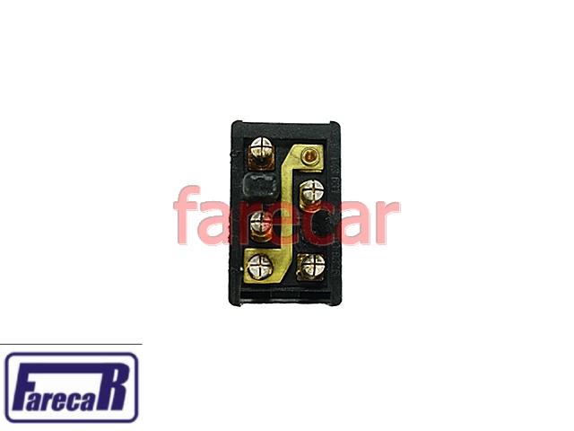 Botao Vidro Eletrico Simples Monza 82 a 87 Opala 85 a 87  - Farecar Comercio