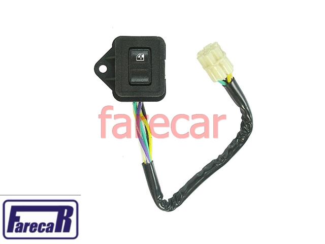 Botao Vidro Eletrico Com Chicote Simples Monza 88 a 96  - Farecar Comercio