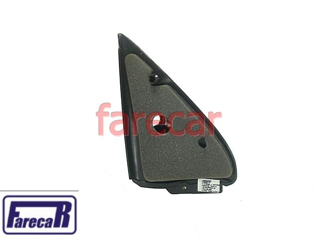 Acabamento Int Espelho Retrovisor Gol 2 Portas Grafite  - Farecar Comercio