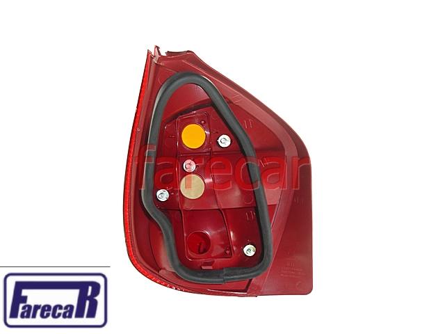 Lanterna Palio G2 01 a 03 e Fire 03 a 10 Carcaça Vermelha  - Farecar Comercio