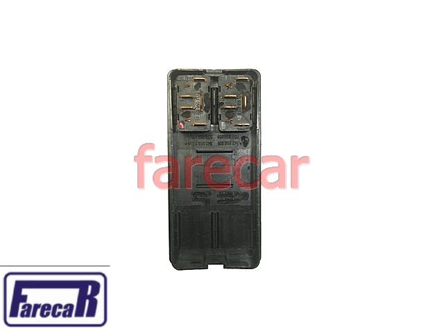 Moldura + Botao Vidro Eletrico Duplo Logus e Pointer 93 a 97  - Farecar Comercio