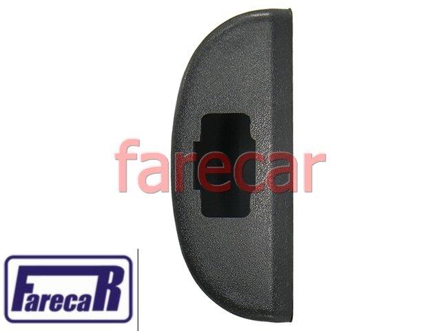 Moldura Botao Vidro Eletrico Simples Porta GRAFITE Celta e Prisma 2007 a 2012 2008 2009 2010 07 08 09 10 11 12  - Farecar Comercio