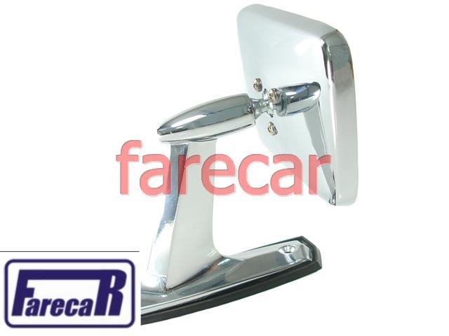 Espelho Retrovisor Cromado Galaxie Corcel Maverick F-100  - Farecar Comercio