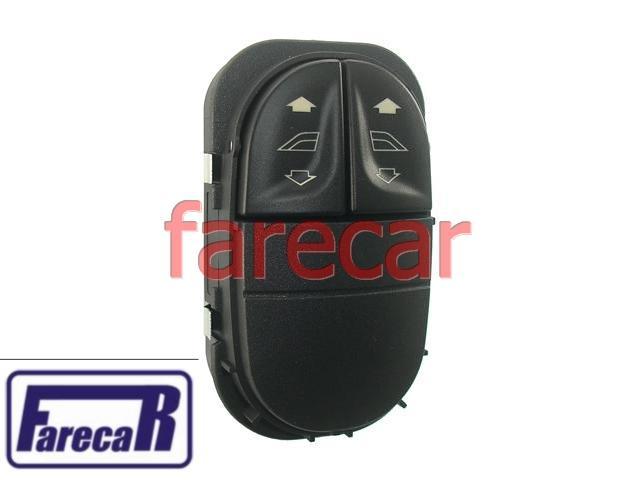 Botao Vidro Eletrico Escort Zetec e Perua Sw 1997 a 2002 97 98 99 00 01 02 1998 1999 2000 2001  - Farecar Comercio