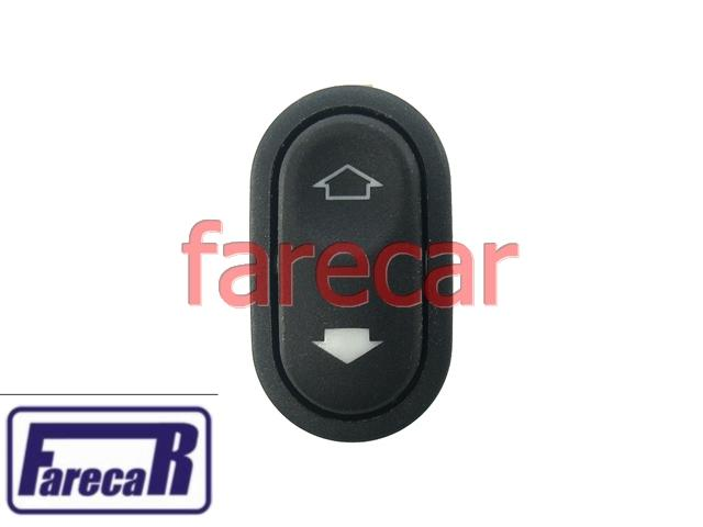 Botao Vidro Eletrico Simples Ford Mondeo de 93 a 98  - Farecar Comercio