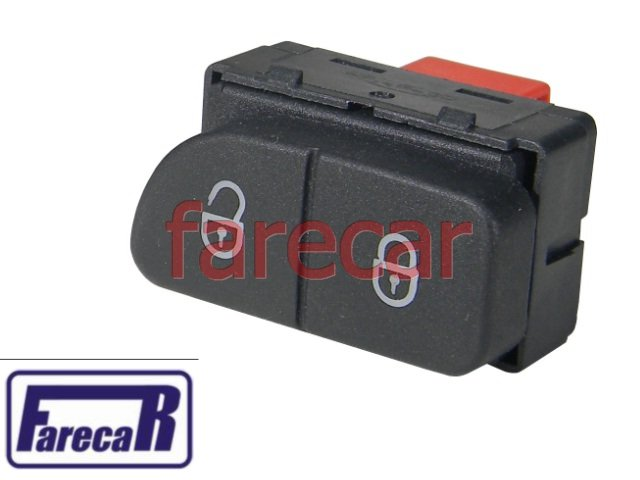 BOTAO DA TRAVA ELETRICA DAS PORTAS GOL G5 VOYAGE G5 SAVEIRO G5 2008 A 2012 FOX SPACEFOX CROSSFOX SPACECROSS 2010 A 2013 08 09 10 11 12 2009 2011 - Farecar Comercio