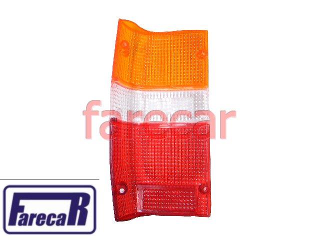 Lente Lanterna Traseira L-200 92 - 03 Gl Gls Tricolor Nova  - Farecar Comercio