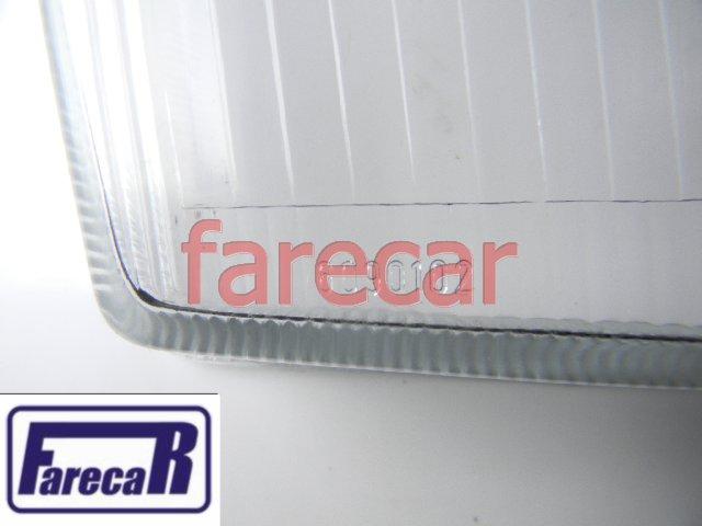 LENTE DE VIDRO DO FAROL OMEGA COM MILHA ARTEB 1992 A 1998  - Farecar Comercio