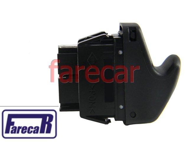 BOTAO INTERRUPTOR VIDRO ELETRICO 6 TERMINAIS RENAULT CLIO 2000 A 2011  - Farecar Comercio