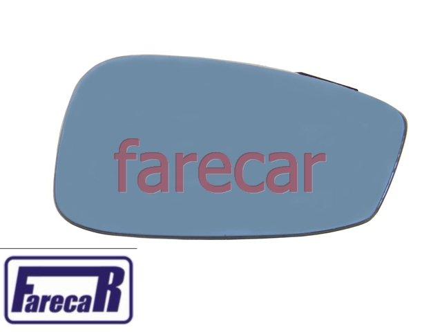 PAR LENTE VIDRO AZUL COM BASE ESPELHO RETROVISOR IDEA 2006 A 2010  - Farecar Comercio