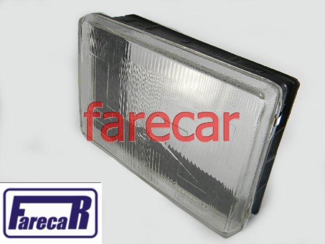 LENTE DE VIDRO FAROL OPALA TIPO CRISTAL  - Farecar Comercio