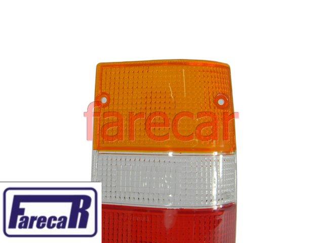 LENTE LANTERNA TRASEIRA TRICOLOR L-200 1996 A 2004  - Farecar Comercio