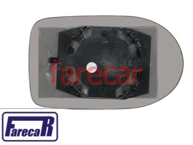 SUBCONJUNTO LENTE DE VIDRO COM BASE ESPELHO RETROVISOR FIAT NOVO UNO 2010 E 2011 - 10 11  - Farecar Comercio