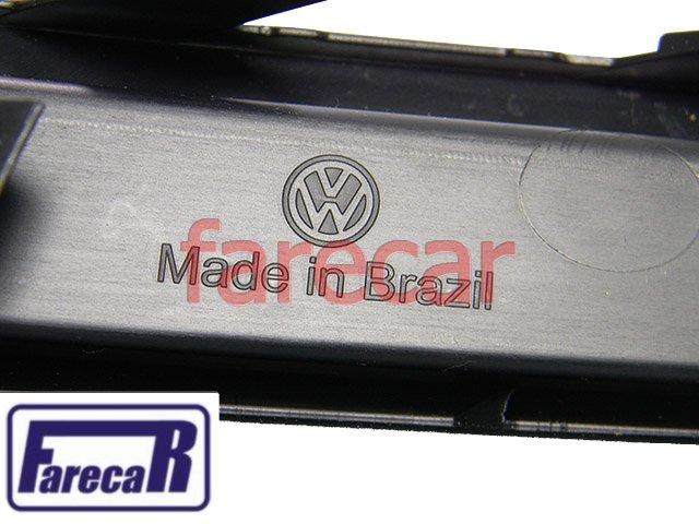 GRADE MOLDURA DO PARACHOQUE COM FURO DO FAROL DE MILHA VW GOL G6 VOYAGE G6 2013 2014 2015 13 14 15  - Farecar Comercio