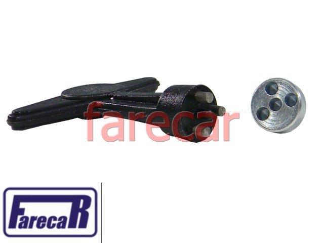 Kit de Chave e 4 Parafuso da Calota central Gm Vectra Corsa Omega Scenic Clio  - Farecar Comercio